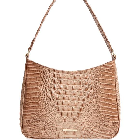 5d630721b54c BRAHMIN Nadia Croc Embossed Leather Shoulder Bag